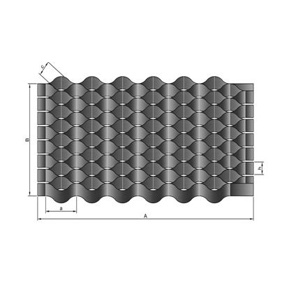 Георешетка полимерная: ячейка 16*16 мм / 12 м² / модуль