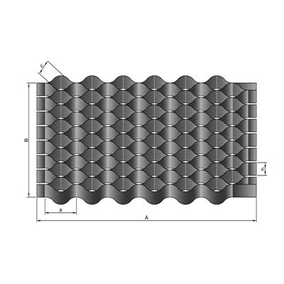 Георешетка полимерная: ячейка 21*21 мм / 15 м² / модуль