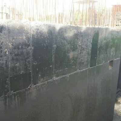 Наружная гидроизоляция бетонного фундамента от грунтовых вод.
